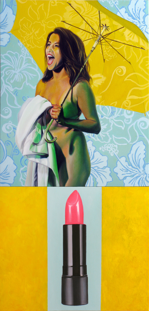 , 'Untitled 022 (Lipstick dyptych),' 2015, Benjaman Gallery Group