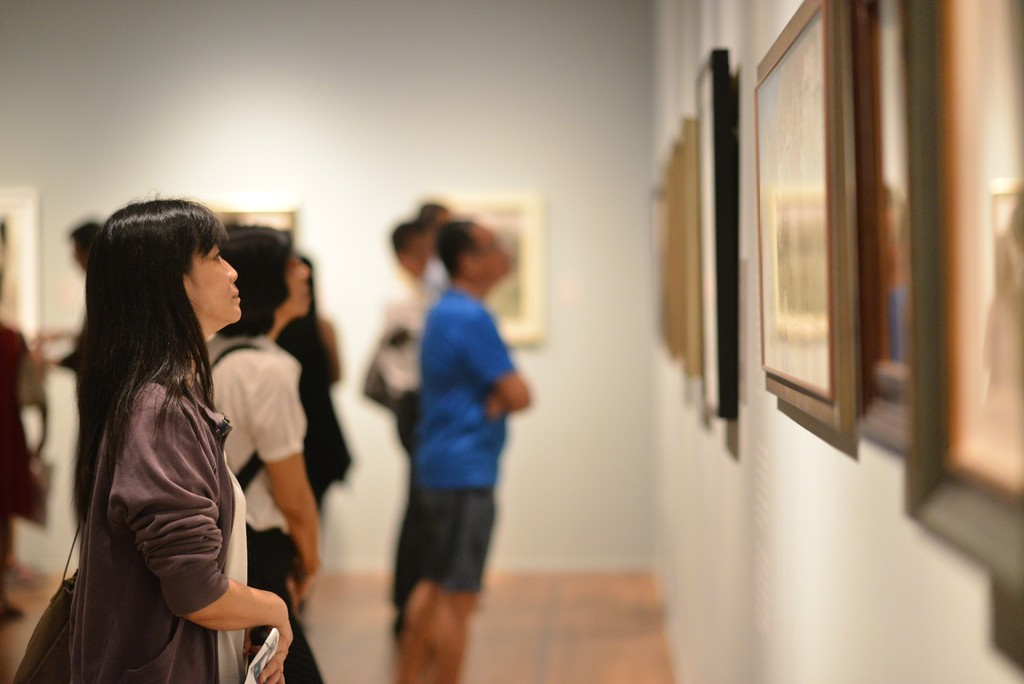 "Installation view of ""Wu Guanzhong: Beauty Beyond Form"" at National Gallery Singapore (2015-2016)"