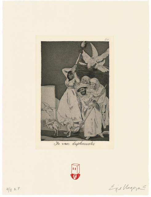 Enrique Chagoya, 'Ya van desplumados / There they go plucked', 2015, Universal Limited Art Editions
