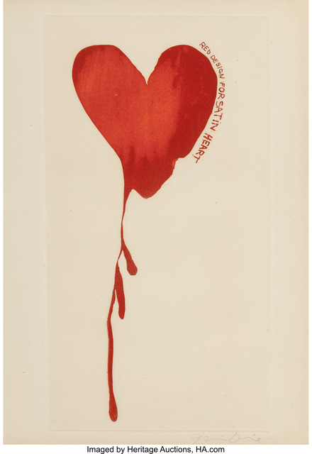 Jim Dine, 'Red Design for Satin Heart', 1968, Print, Aquatint in colors, Heritage Auctions