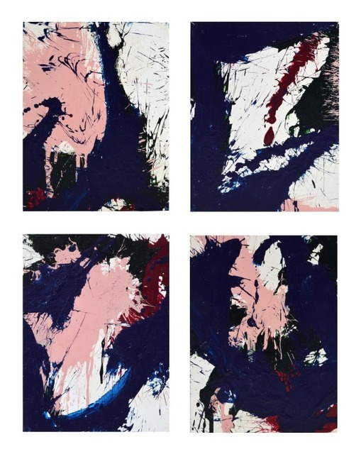 , 'Compositions in blue and pink (a set of four works),' 1967, Waterhouse & Dodd
