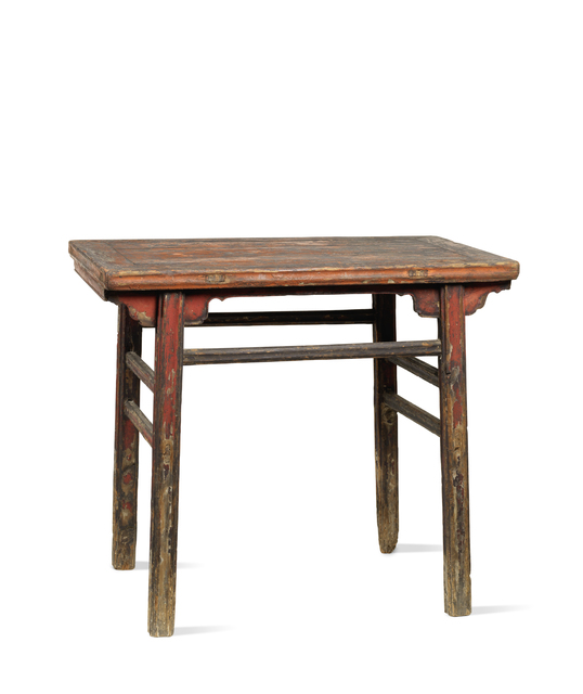 , 'A small red lacquered softwood rectangular table,' China:Shanxi province-17th century, Rasti Chinese Art