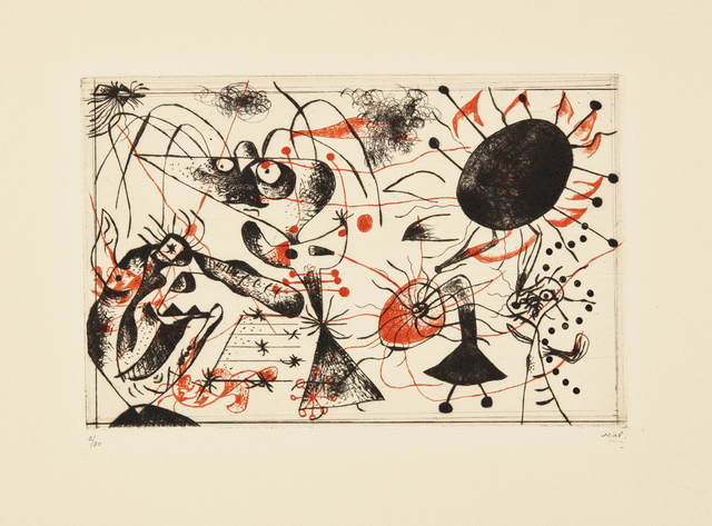 Joan Miró, 'Série noire et rouge (Black and Red Series)', 1938, Phillips