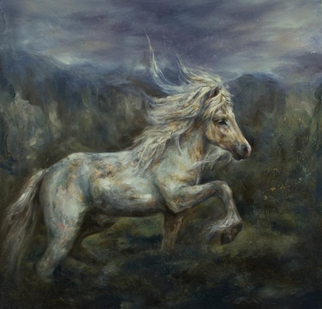 , 'White Stallion,' 2017, Flower Pepper Gallery