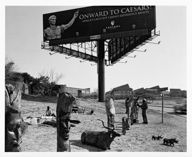 David Goldblatt, 'Carvings for Sale on William Nicol Drive', Strauss & Co