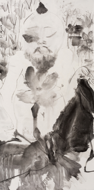 , 'Man in Lotus 荷中人,' 2017, Ink Studio