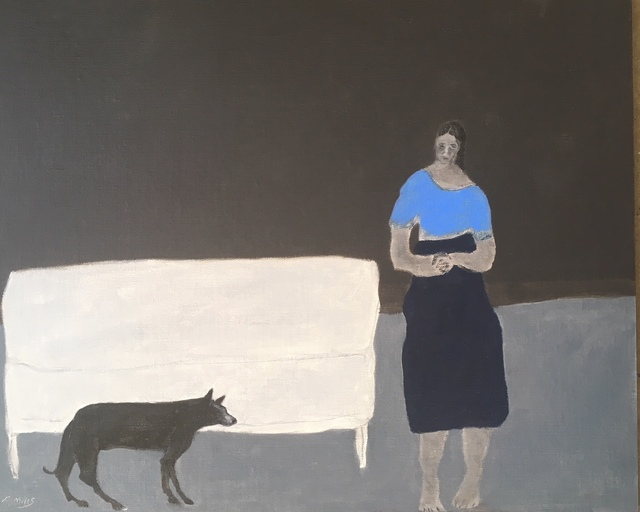 , 'Park Bench/Girl with a lost Dog,' 2018, Emmanuelle G Gallery