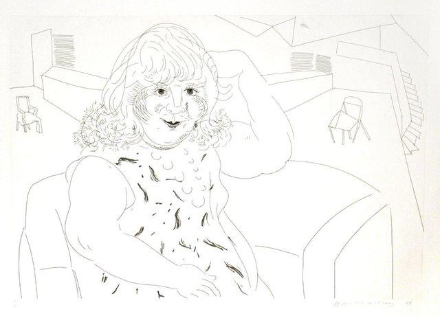 David Hockney, 'Ann in the Studio', 1984, Kunzt Gallery