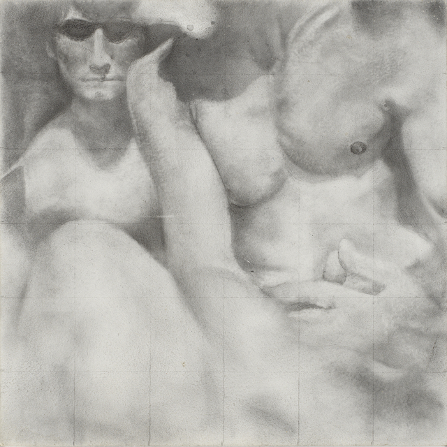 Rick Sindt, 'Knit', 2017, Drawing, Collage or other Work on Paper, Graphite and graphite powder on panel, Gallery Victor Armendariz