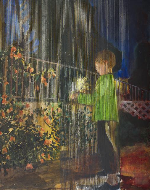, 'Yonathan with fireworks 3,' 2014, Dvir Gallery