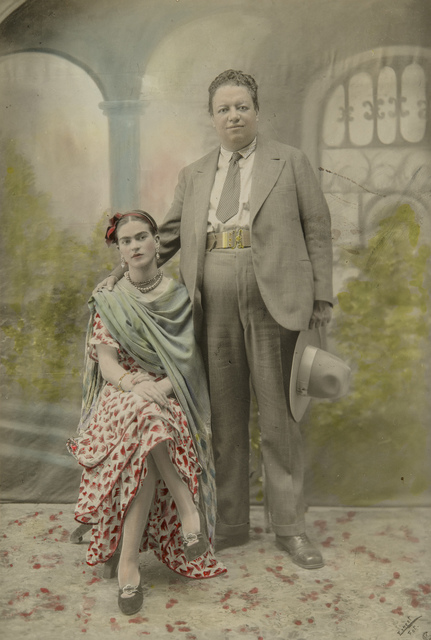 , 'Wedding portrait of Frida Kahlo and Diego Rivera,' 1929, Museum of Fine Arts, Boston