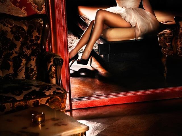 David Drebin, 'Girl In The Red Mirror', 2011, Photography, Digital C-Print, Isabella Garrucho Fine Art