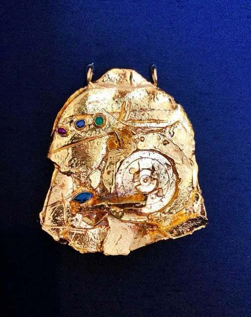 Igael Tumarkin, 'Gilt Bronze Sculpture Brooch Wearable Art Israeli Tumarkin Abstract Surrealist ', 1960-1969, Lions Gallery