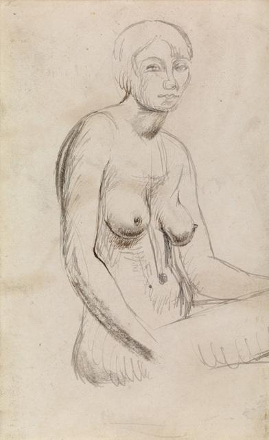 , 'Seated Nude,' ca. 1924, Osborne Samuel