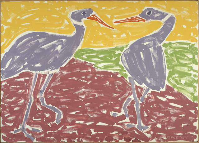 , 'Ostrich Courtship (89-13),' 1989, Berry Campbell Gallery