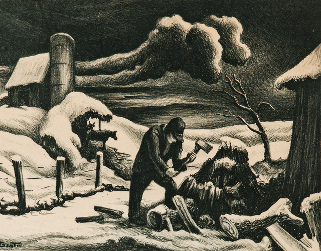 Thomas Hart Benton, 'The Woodpile', 1939, Skinner