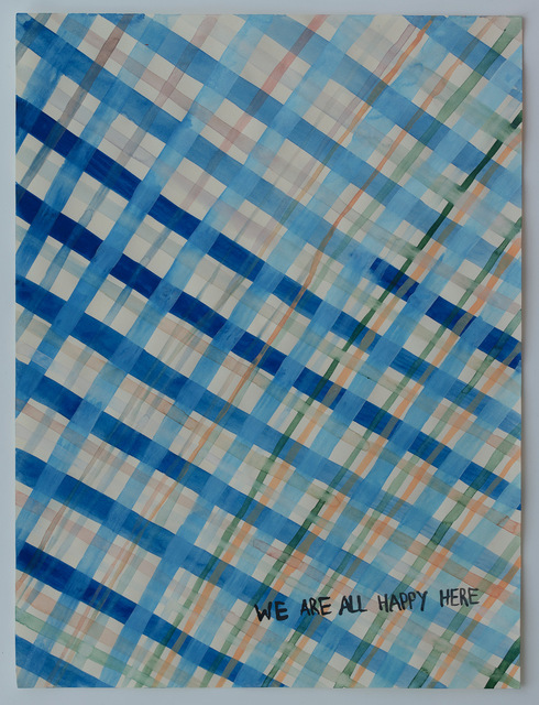 Julia Kuhl, 'Domestic Textiles Series, We Are All Happy Here', 2019, frosch&portmann