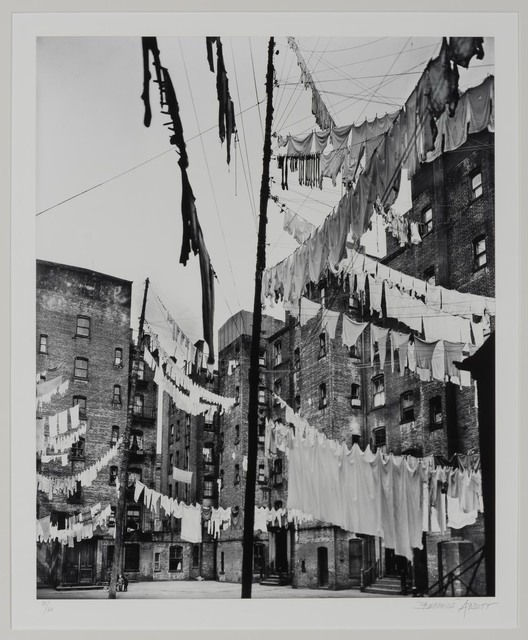 Berenice Abbott, 'Clotheslines, court of first model tenement house in New York City', 1936, Doyle