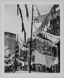 Clotheslines, court of first model tenement house in New York City