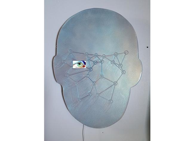 Tony Oursler, '+IR*S', 2015, Sculpture, Aluminium and iPod, MPA / Moisés Pérez De Albéniz