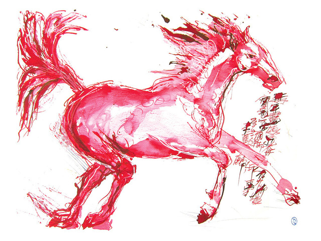 , 'Red Hare Horse II,' 2013, Alisan Fine Arts