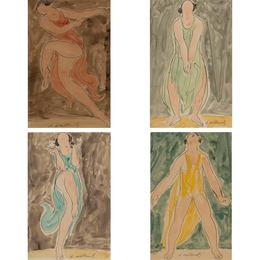 Isadora Duncan (Red); Isadora Duncan (Green);  Isadora Duncan (Blue); Isadora Duncan (Yellow)