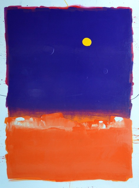 Anthony Hunter, 'Lovely Purple Heart Square on Top of Orange Square with Yellow Blob', JoAnne Artman Gallery