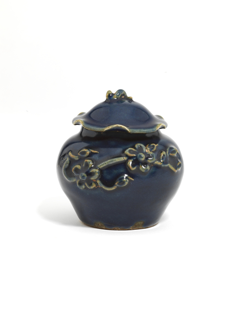 , 'A small blue-glazed 'flower and lotus' jar and cover ,' Yuan Dynasty (1279-1368 AD), Littleton & Hennessy Asian Art