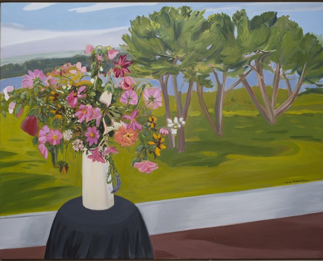 , 'Flowers and Pine Trees,' 1983, Parrish Art Museum