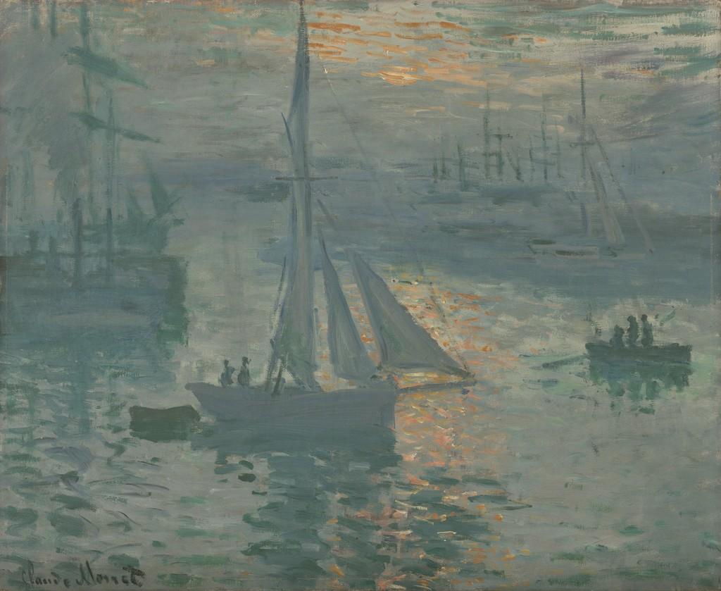 Claude Monet Sunrise Marine 1873