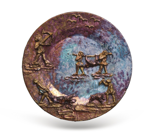 ", '""La Caccia,"" Unique Earthenware Charger,' 1955, Donzella LTD"