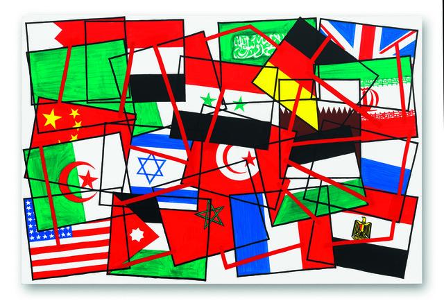 """, 'Hommage à Gustave Courbet, de la Commune de Paris à la place Tahrir (De la série """"La couleur dans tous ses états""""),' 2011, Jeanne Bucher Jaeger"""