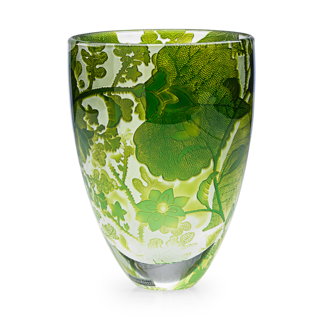 Jonathan Harris, 'Vase With Stylized Leaves And Flowers, England', 2011, Design/Decorative Art, Acid-Etched Cameo Glass, Rago/Wright