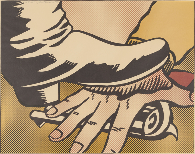 Roy Lichtenstein, 'Foot and Hand', 1964, Print, Offset color lithograph, Childs Gallery