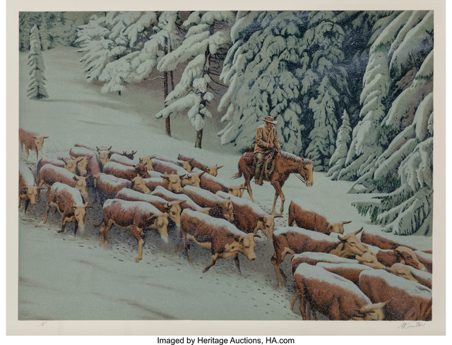 Morton Künstler, 'Early Snow', 1977, Print, Lithograph in colors, Heritage Auctions