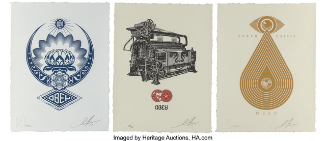 Shepard Fairey, 'Earth Crisis, Obey Loom, and Lotus Ornament', 2015; 2017, Heritage Auctions