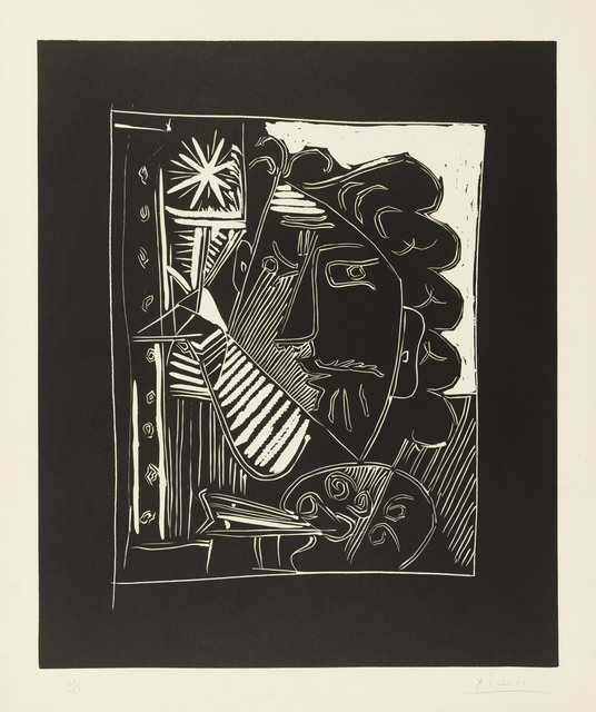 Pablo Picasso, 'Le peintre à la palette', 1963, Print, Linocut on Arches wove paper, Christie's