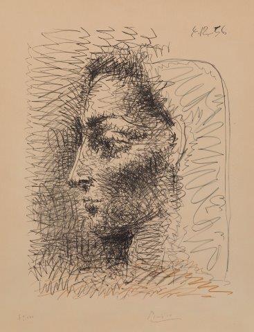 Pablo Picasso, 'Portrait of Jacqueline [Bloch 827 Mourlot 289]', 1956, Roseberys