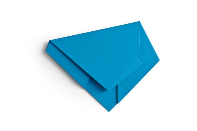 , 'Blue Folded Flat 04,' 2015, Galerie Nikolaus Ruzicska