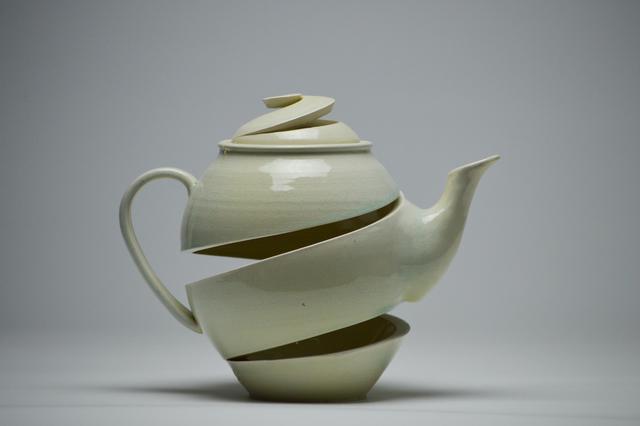 , 'Spatial Spiral: Celadon Teapot,' 2017, Lyons Wier Gallery