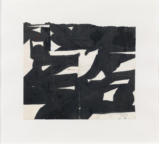 , 'Black White #1400,' 1956, Susan Sheehan Gallery