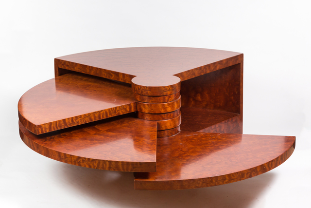 "Pierre Cardin, 'Rare Burl Wood ""Fan"" Coffee Table by Pierre Cardin', ca. 1970, On Madison"