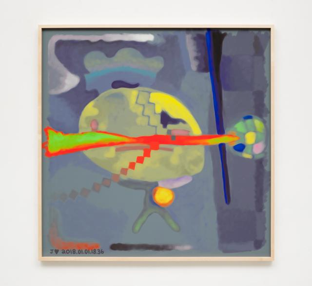, 'J♥2018.01.01.18.36,' 2018, Johannes Vogt Gallery