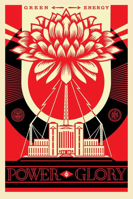 Shepard Fairey, 'Green power poster', 2017, Print, Offset print on paper, Galerie Brugier-Rigail