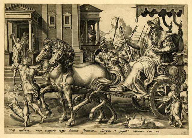 , 'Post multum vero temporis rediit dominus servorum illoris et contulit rationem cum eis (Matt. 25.19.),' ca. 1600, Thomas French Fine Art