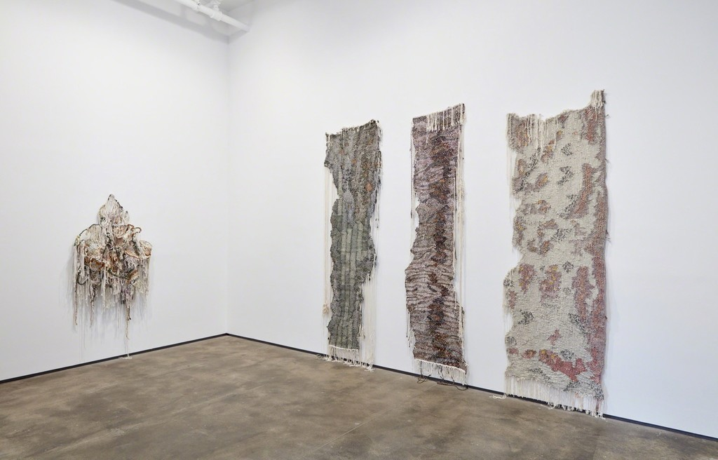 Installation view of Ravelled Threads at Sean Kelly, New York