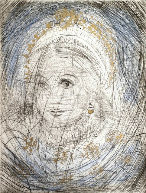 ", ' The Night of Walpurgis Faust - Goethe Series: ""Portrait of Marguerite."" ,' 1969, Off the Wall Gallery"