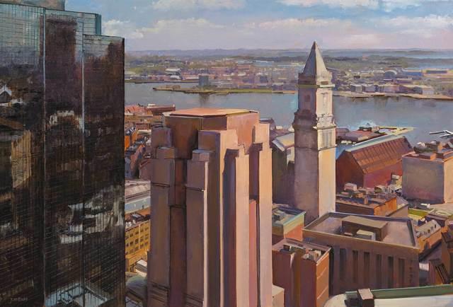 Joel Babb, 'The Customs House from the Harvard Club, plein air', 2018, Vose Galleries