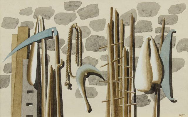 Herbert Bayer, 'Implements on a Wall', 1972, Addison Rowe Gallery