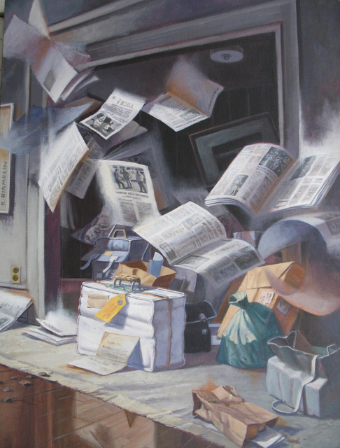 Robert Birmelin, 'Intellectual Baggage', 1995, Painting, Acrylic on canvas, Stanek Gallery